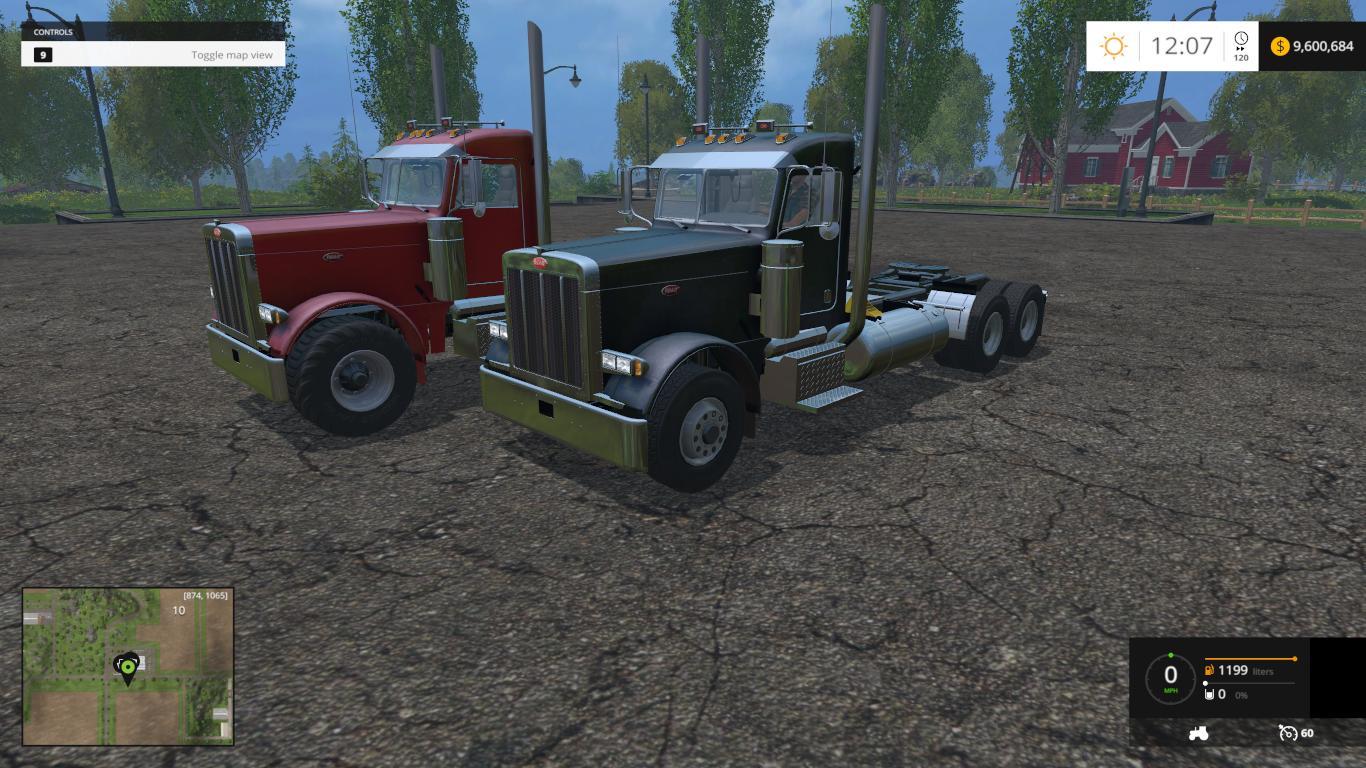 2007 Peterbilts Truck V2 Farming Simulator 2019 2017