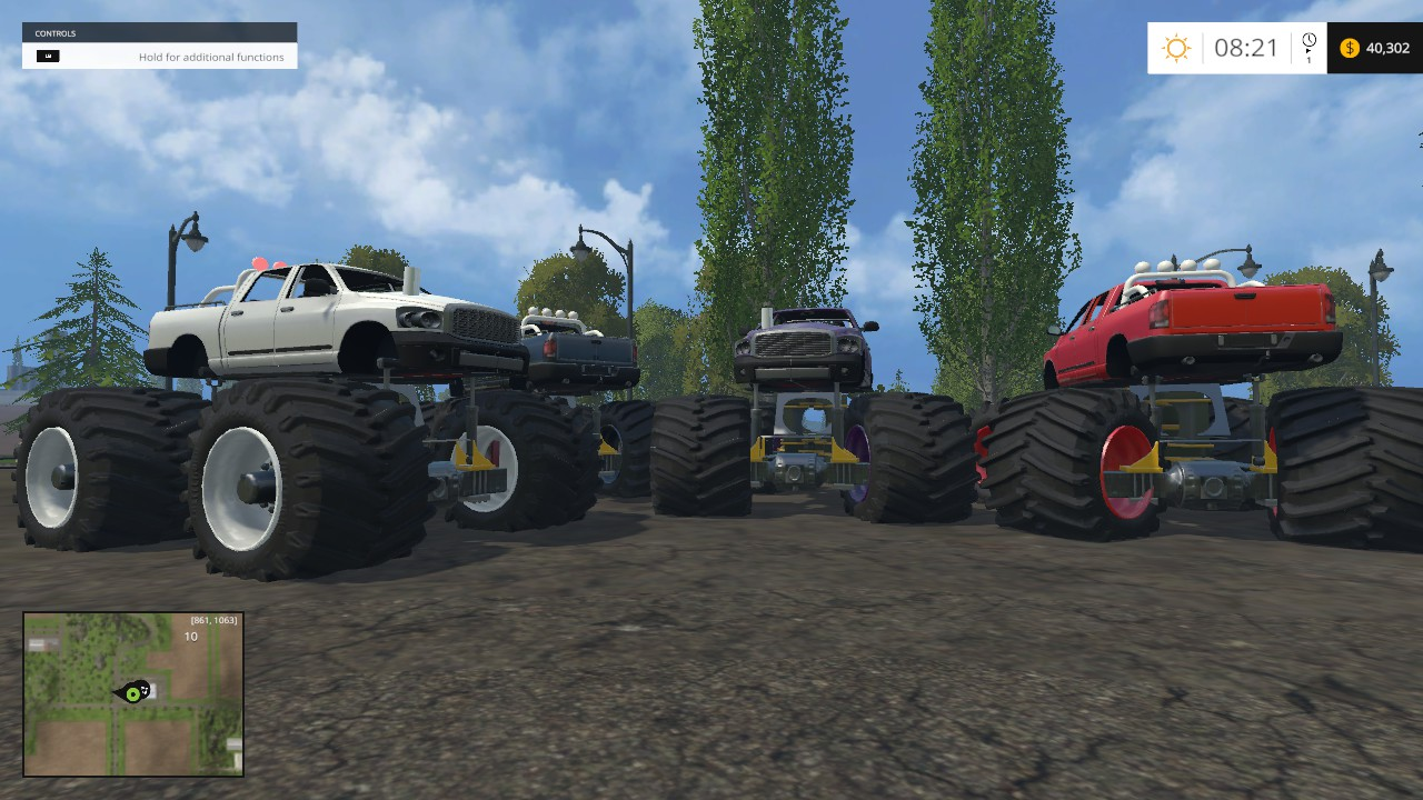 Monster truck for FS 15 - Farming simulator 2019 / 2017 / 2015 Mod