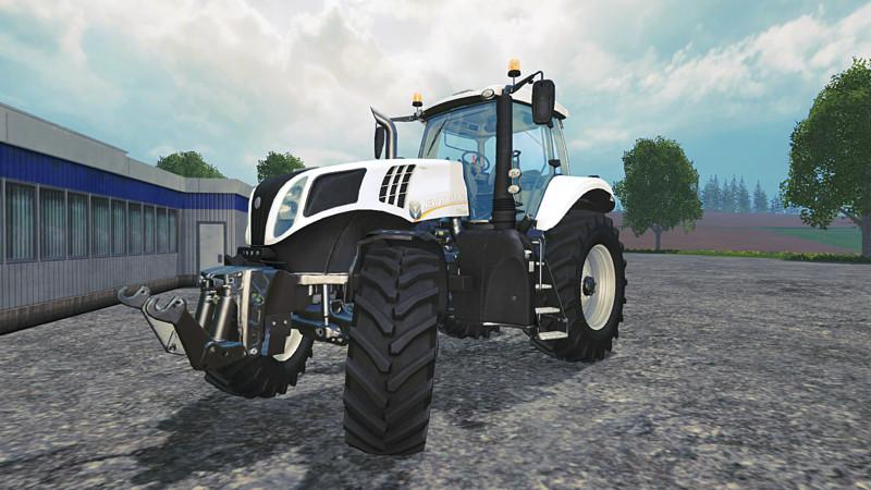 NEW HOLLAND T8 435 TRACTOR WHITE SPECIAL PAINT V1 1