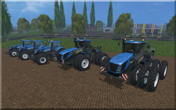 NEW HOLLAND T8-T9 TRACTOR WHEELS PACK FIXED
