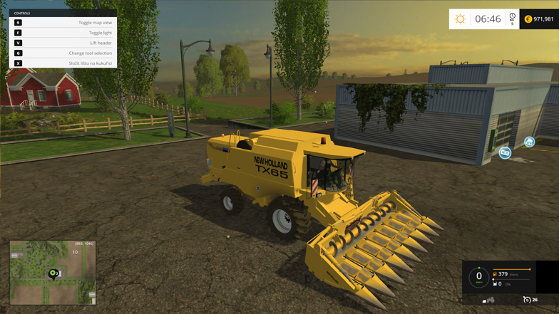 NEW HOLLAND TX65 PACK for FS 15