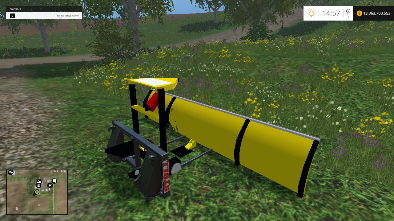SNOW PLOW FOR FONTLOADER for FS 15 - Farming simulator ...