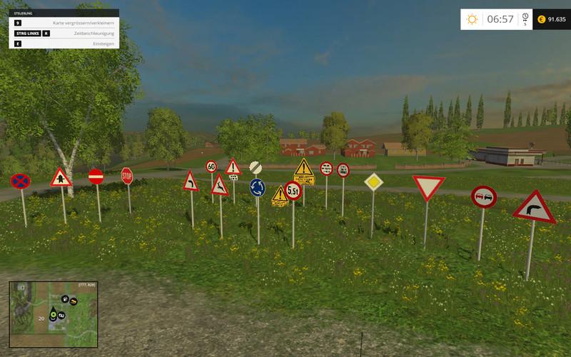 Warning Traffic Signs V 1 1 MOD