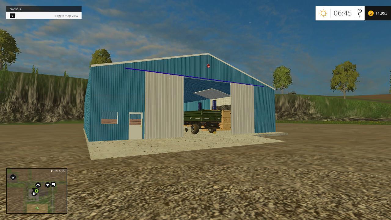 60 x 80 morton shed shop for fs 15 farming simulator. Black Bedroom Furniture Sets. Home Design Ideas