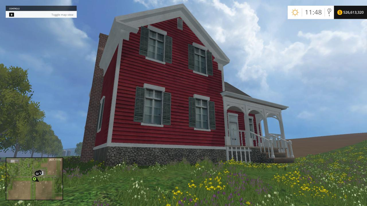Placable Red Suburb House For Fs 2015