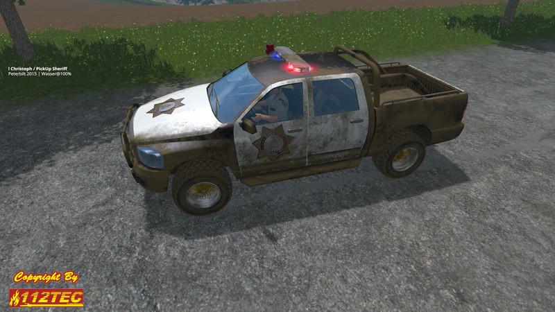 Sheriff Pickup car V 2 0 - Farming simulator 2019 / 2017