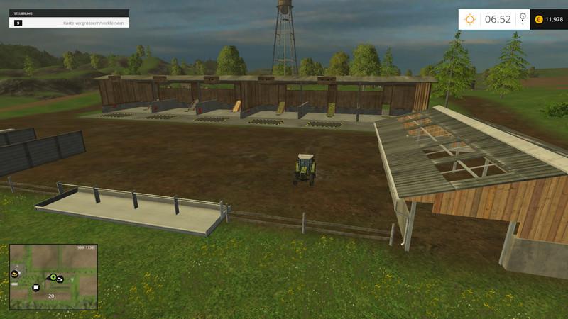 Standartmap With Food Storage MAP V Farming Simulator - Farming simulator 2015 us map feed cows
