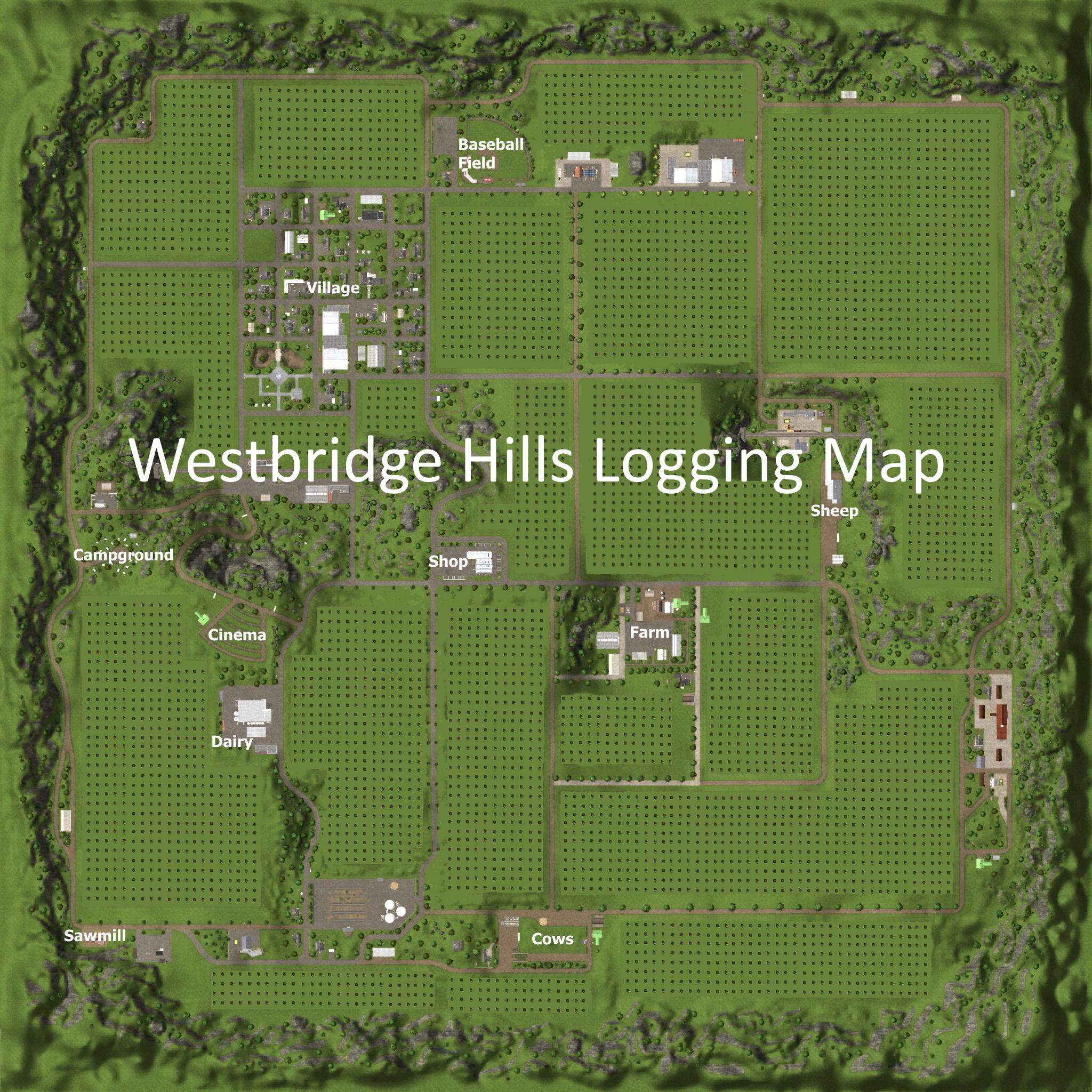 WESTBRIDGE HILLS LOGGING For FS 15 - Farming simulator 2019 / 2017