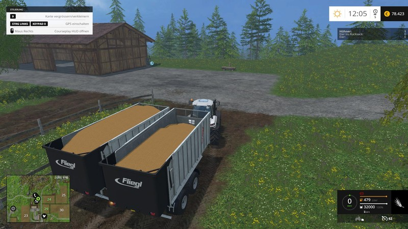 how to fill your train with grain in fs 17