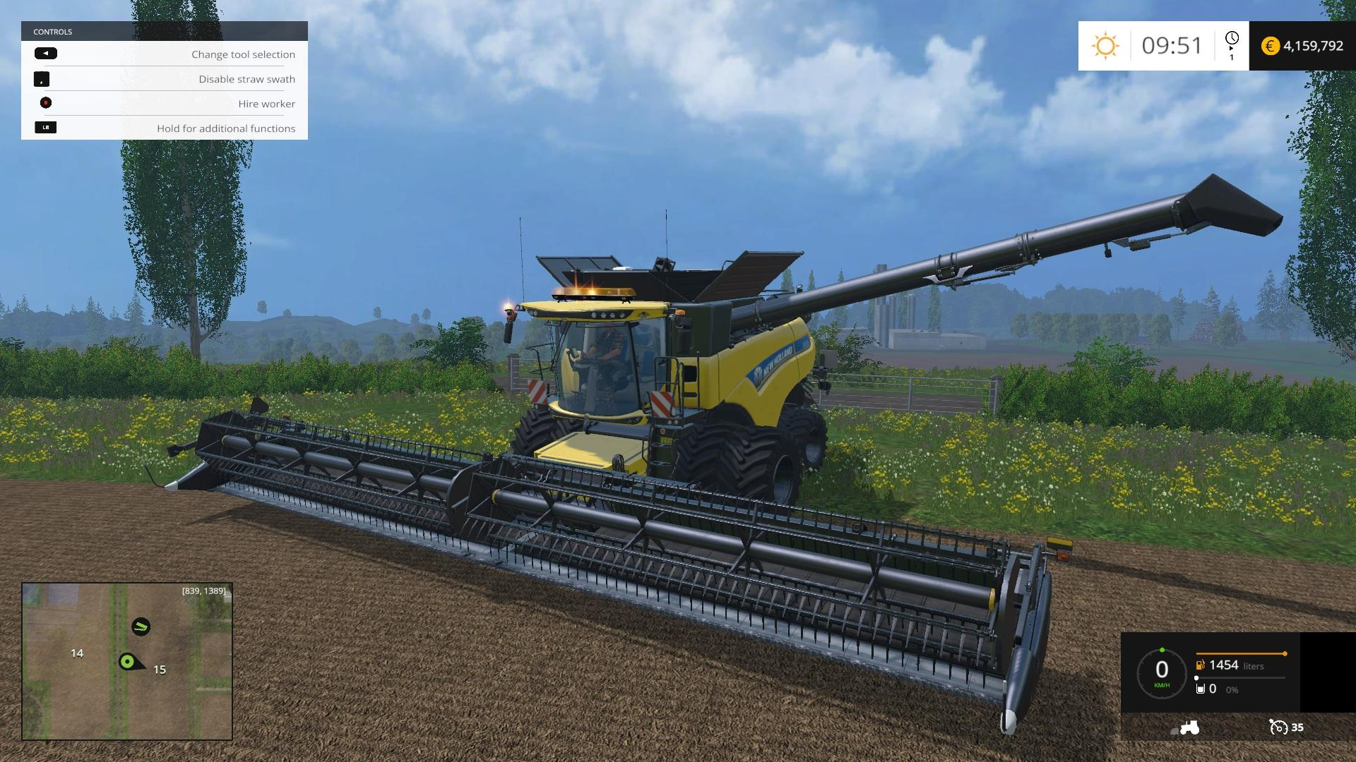 NEW HOLLAND CR1090 DYNAMIC FRONT TWIN WHEELS COMBINE V1 0 - Farming