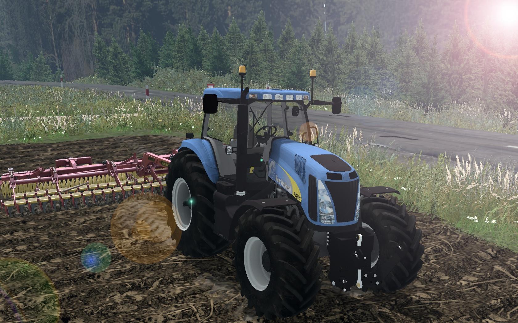 NEW HOLLAND T8020 Tractor v 3 0 Full - Farming simulator 19