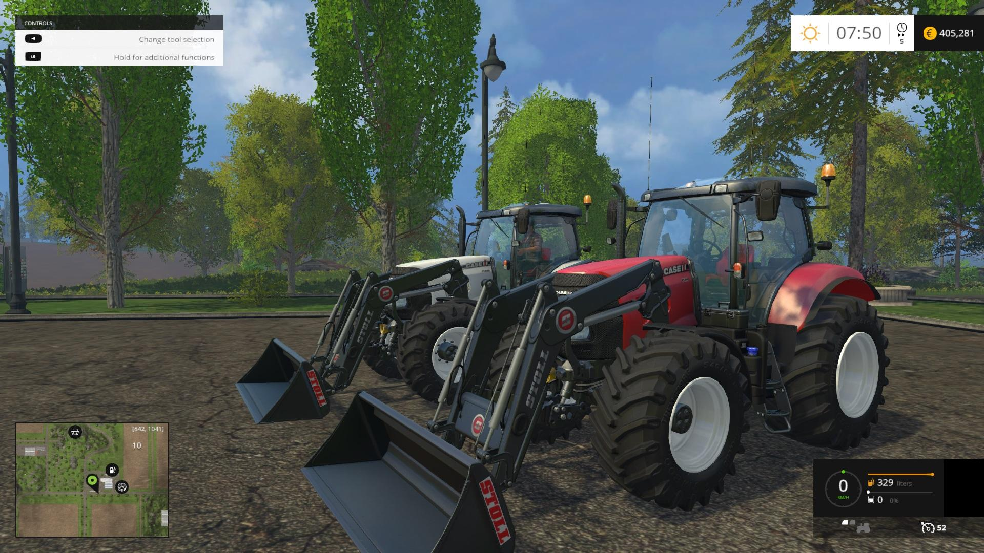 Fixed Caseih Puma S With Front Loader Brackets Tractor V1