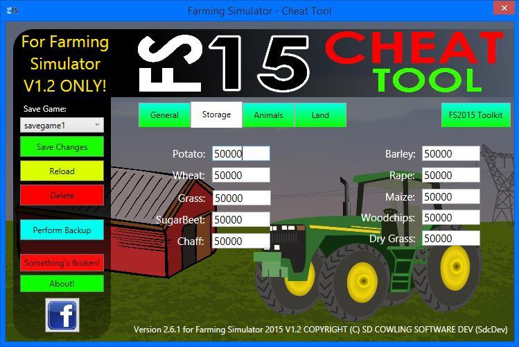 FS2015 CHEAT TOOL FOR FS15 MOD V1 2 V2 6 1 - Farming simulator 2019