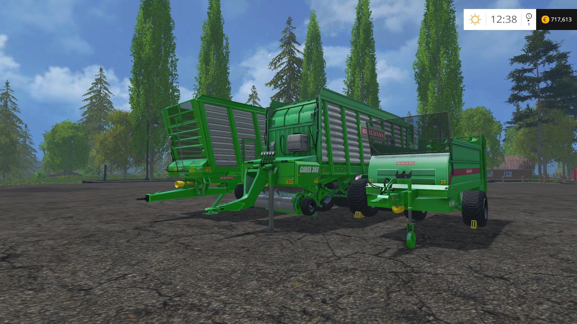BERGMANN TRIPPLE TRAILER PACK V1 0 - Farming simulator 2019