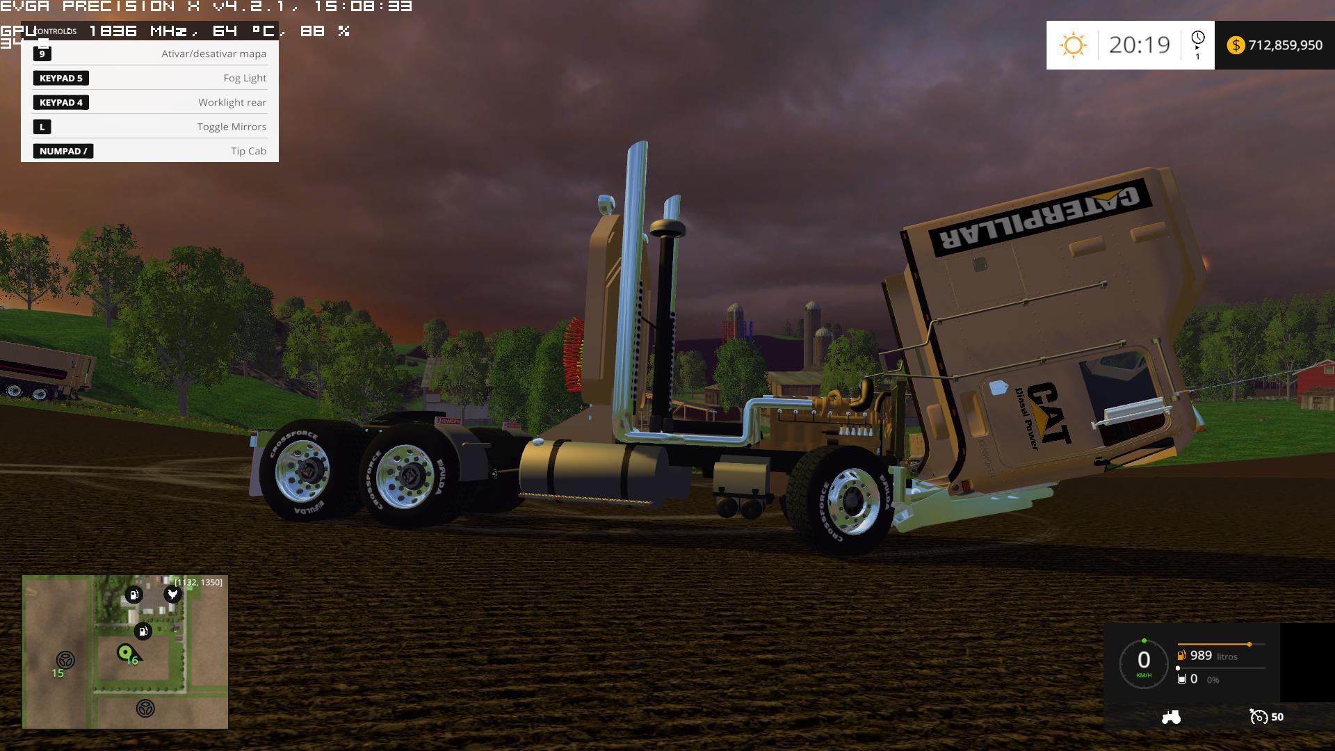 cat kenworth 100 6cc turbo 780 hp truck farming simulator 2019 2017 2015 mod. Black Bedroom Furniture Sets. Home Design Ideas