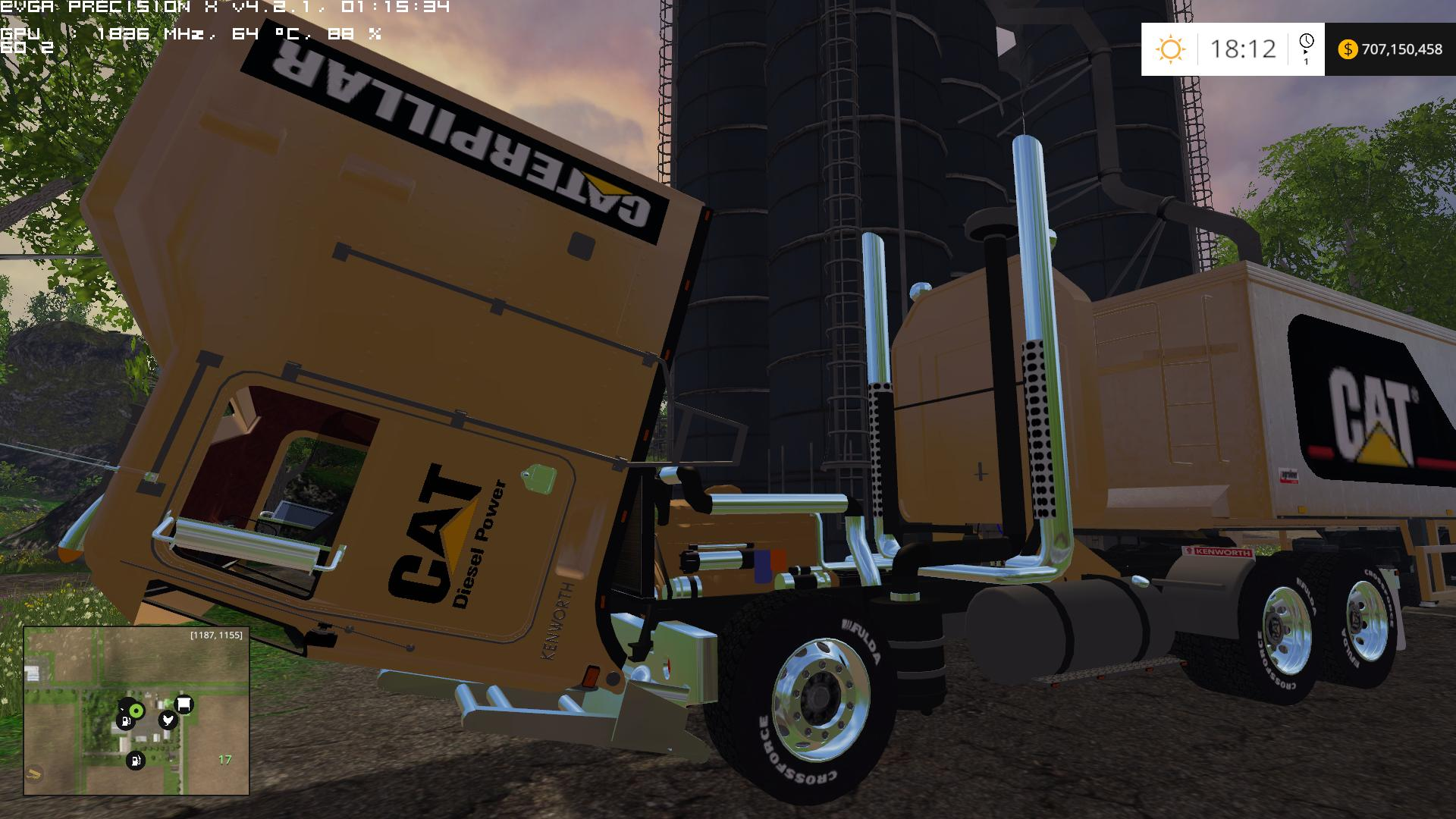CAT - TRUCK + TRAILER 350 000 LITERS MOD for LS15 - Farming