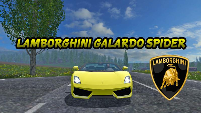 Lamborghini Gallardo Spyder V 1 0 for FS 2015 - Farming