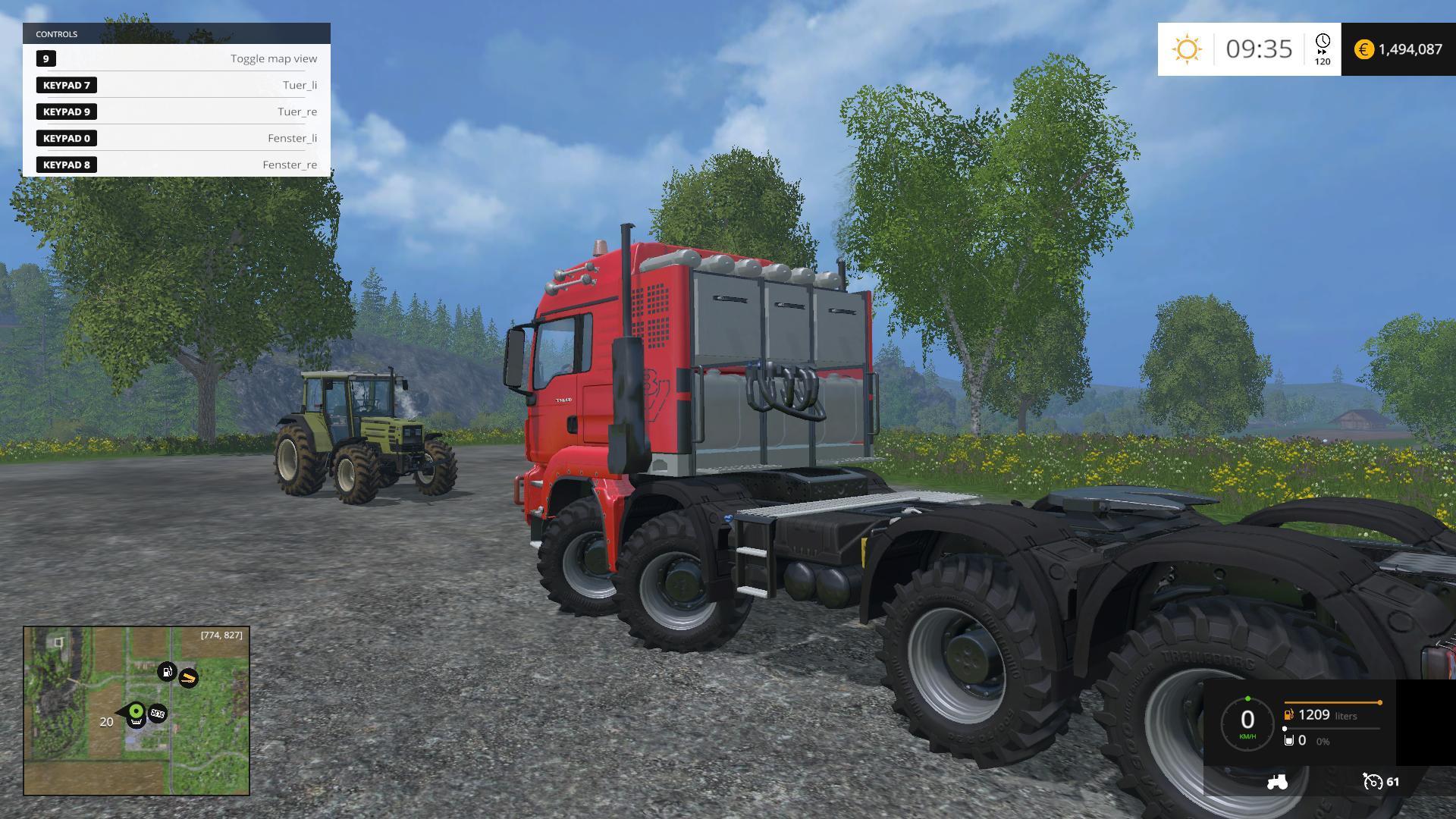 MAN TGS 8X8 TRUCK V5 5 - Farming simulator 19 / 17 / 15 Mod
