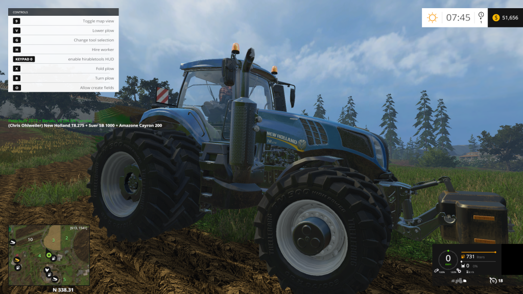New Holland T 8.275 Twin Wheels Tractor V1.1