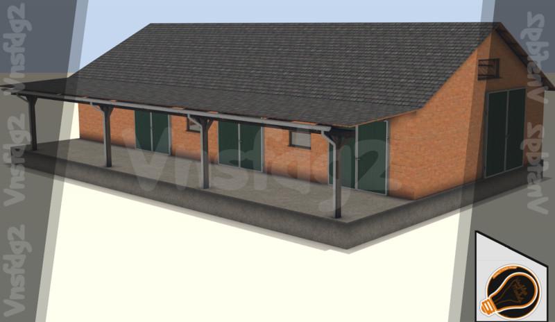 Brick Garage Building V 10 Farming Simulator 2019 2017 2015 Mod