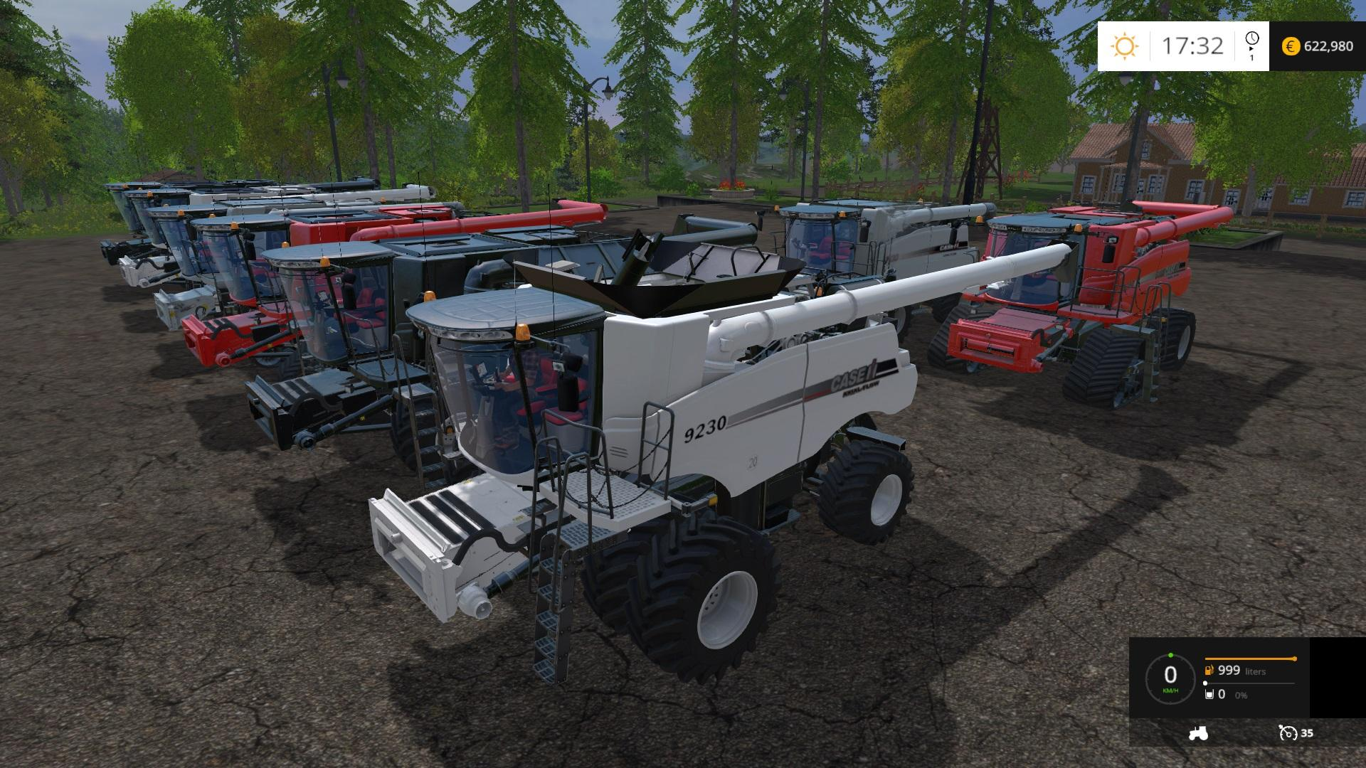CASEIH 8 PACK HDR DYEABLE COMBINE HARVESTERS V1 4 LS2015