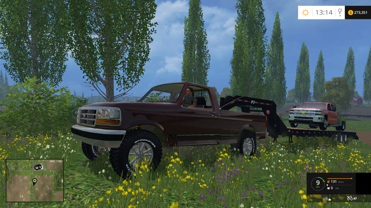 F100 CAR V.1.1 - Farming simulator 2015 / 15 LS mod
