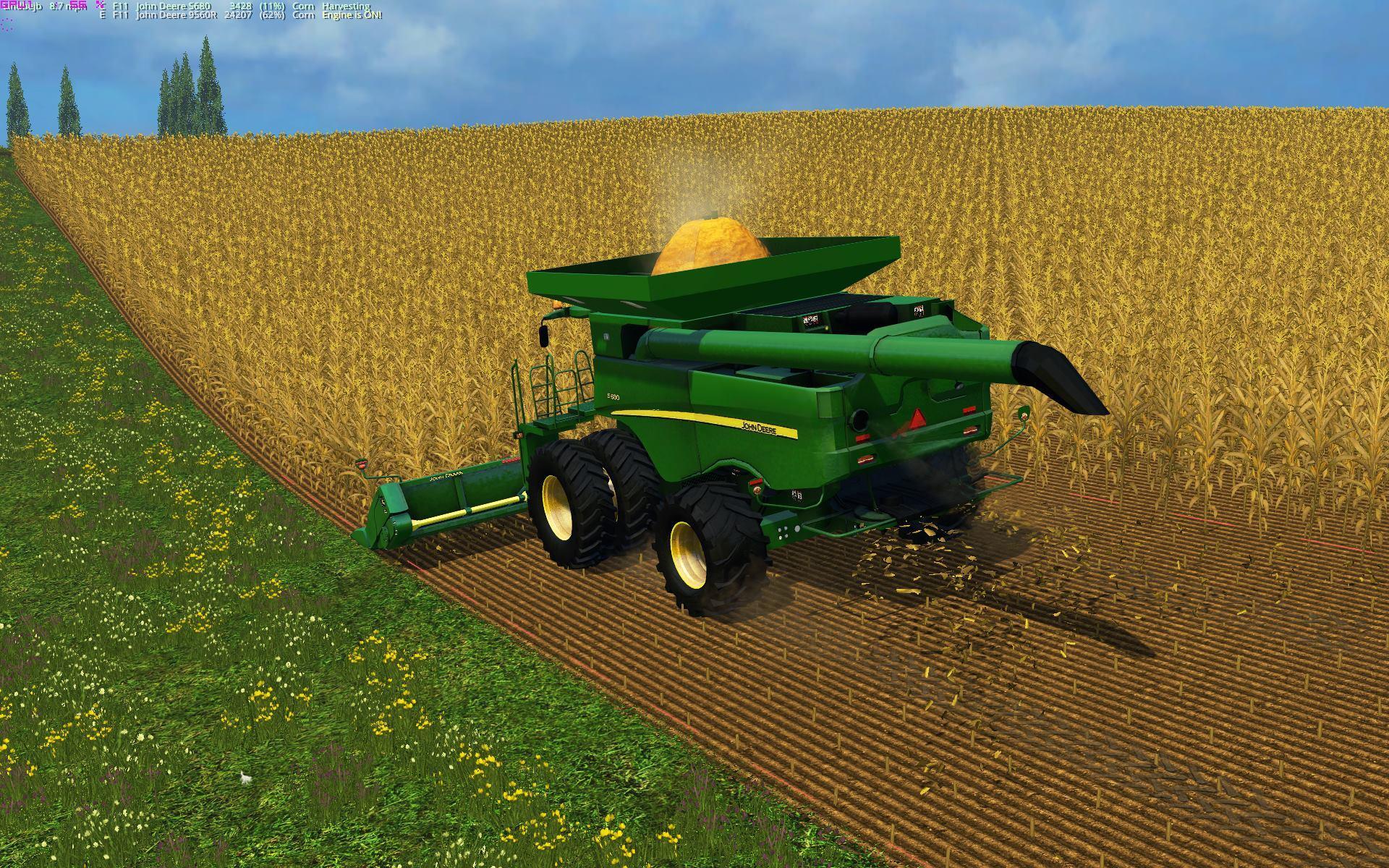 JOHN DEERE 690I Combine V1 - Farming simulator 2017 / 2015 ...