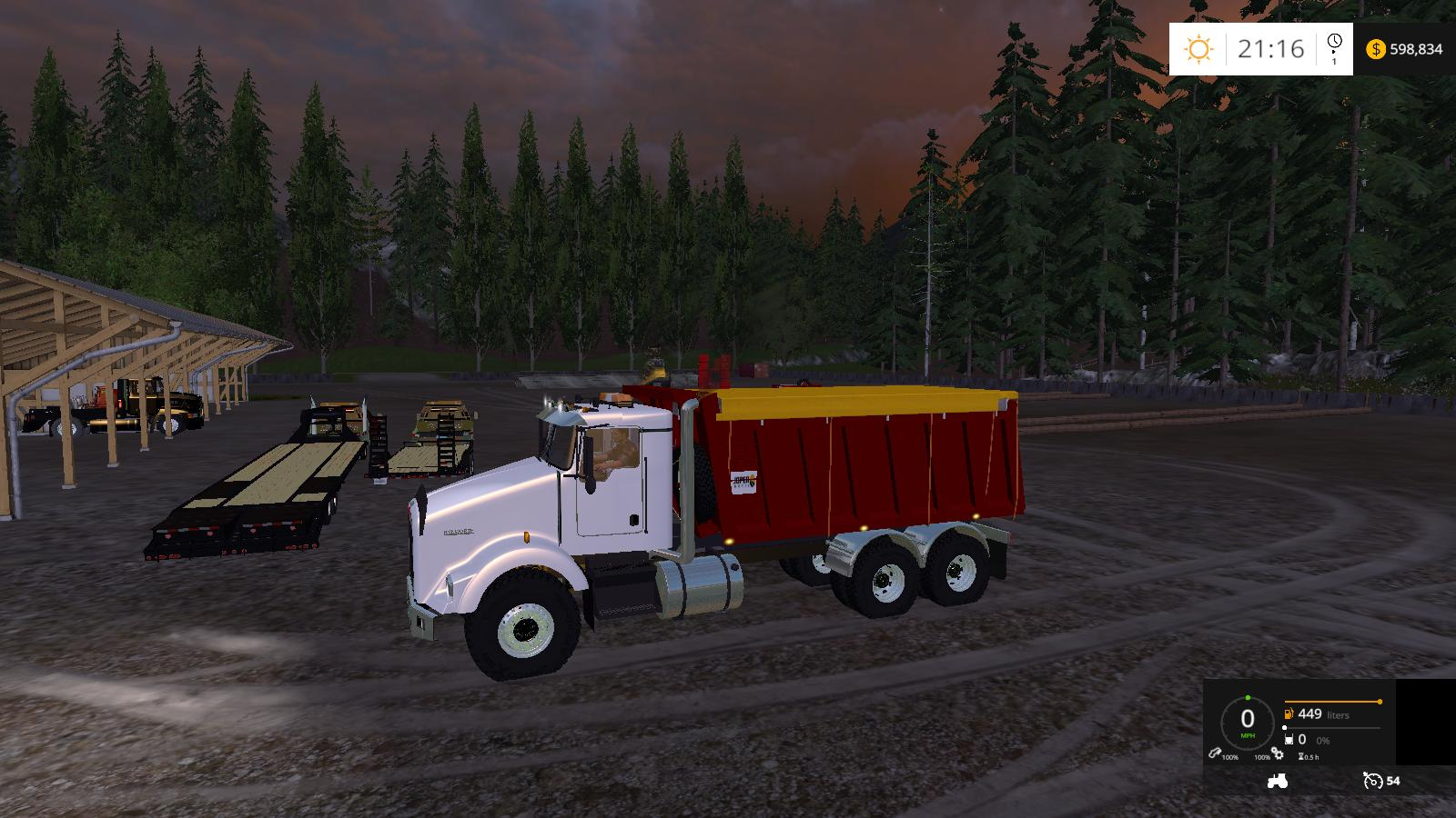 KENWORTH DUMP BED TRUCK V2 - Farming simulator 2019 / 2017 ...Kenworth Dump Trucks Fs19