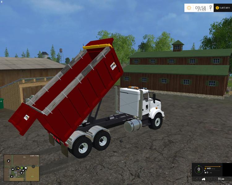 Kenworth Dump Truck V 1 0 - Farming simulator 2019 / 2017 / 2015 Mod