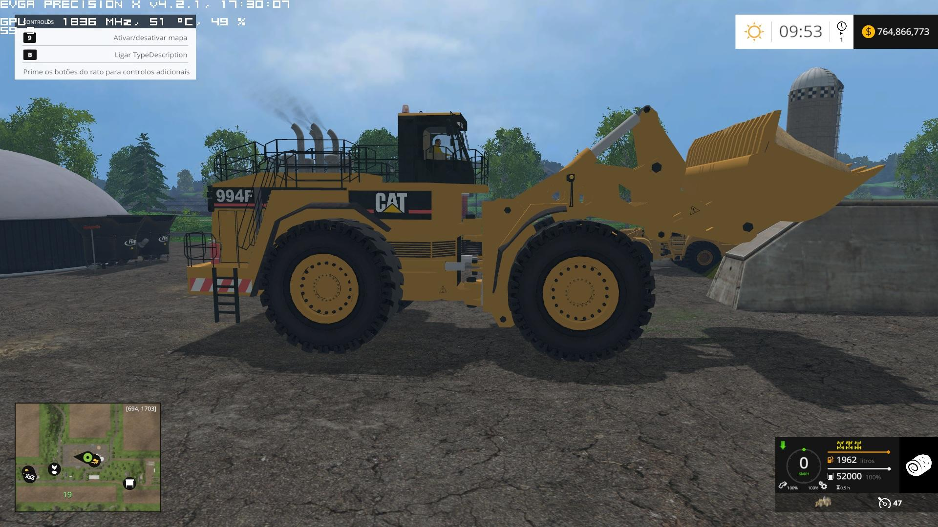 CATERPILLAR 994F FOR SILAGE V1 0 FS 2015 - Farming simulator 2019