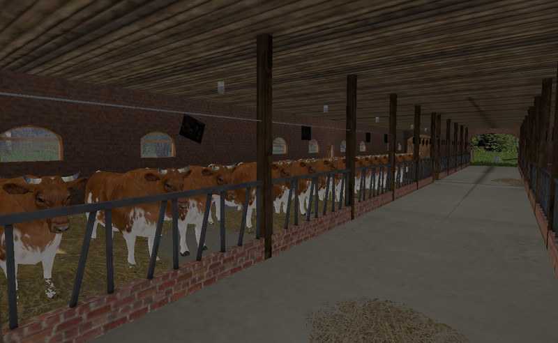 Cow And Sheep Barn With A Thatched Roof Building V 10