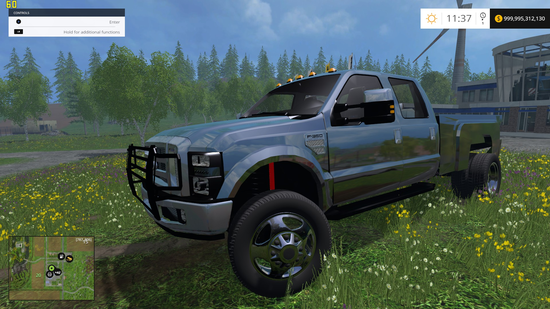 F350 Ford Diesel Pickup Black Truck