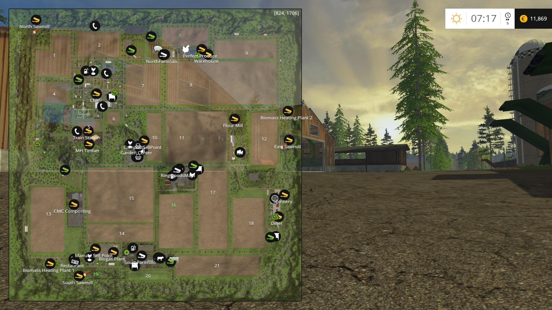 fs17 how to start with all fields owned
