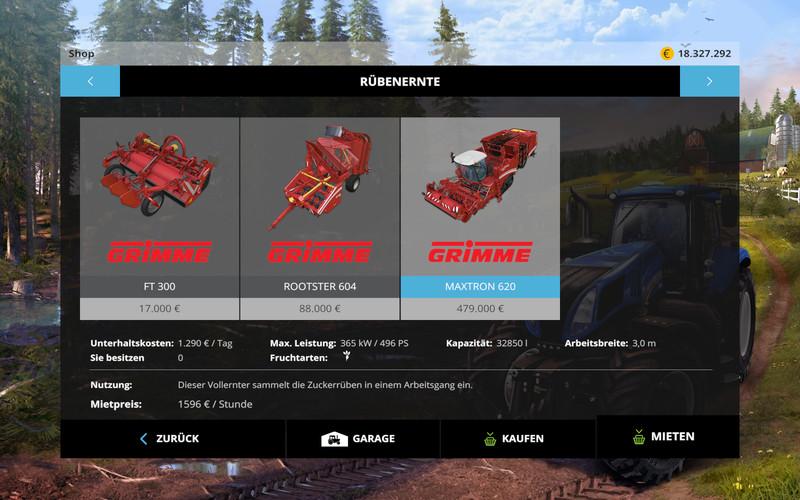 Rental Mod V 1 1 FS 15 - Farming simulator 2019 / 2017 / 2015 Mod
