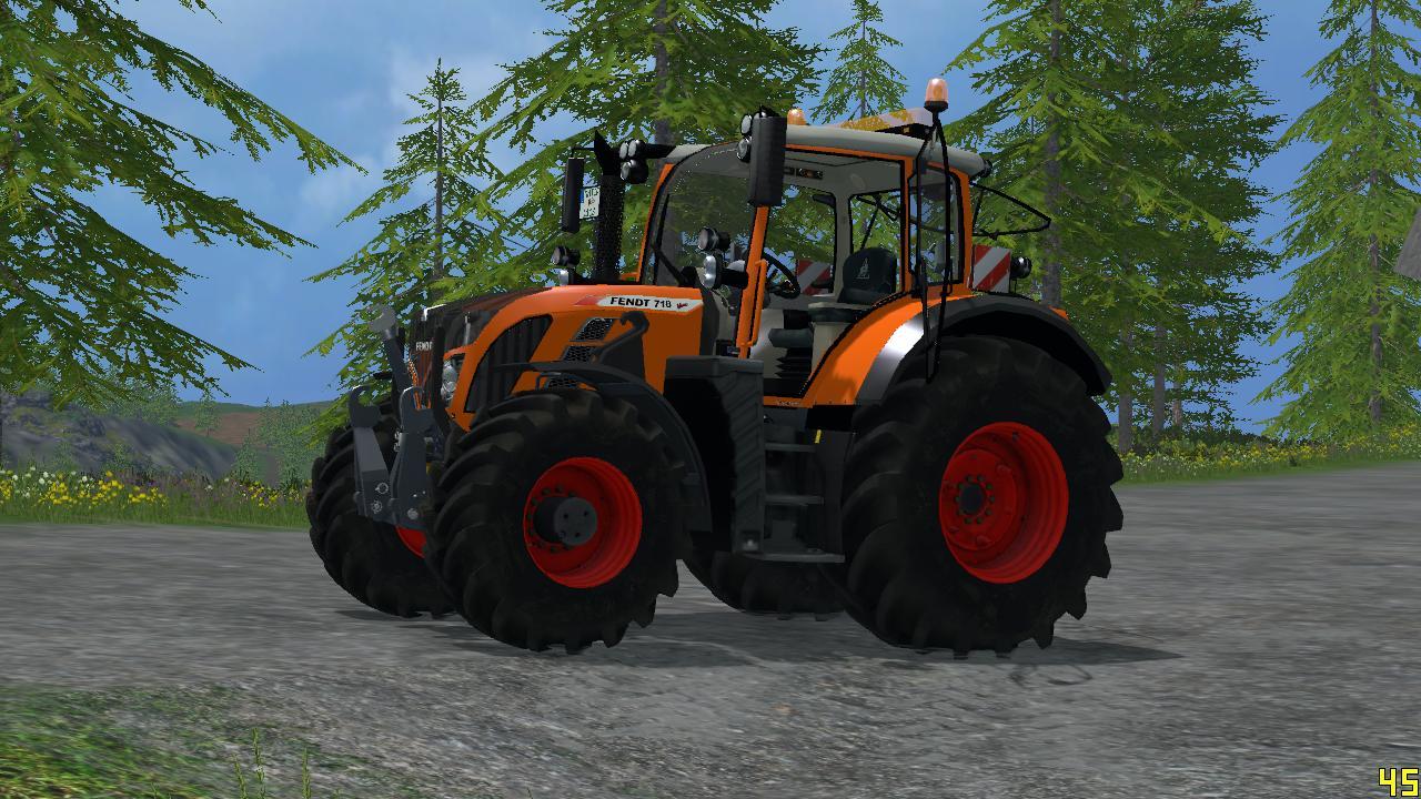 Farming Simulator Tractors : Fendt orange tractor v farming simulator