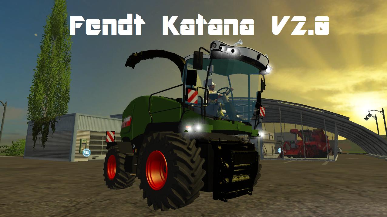 Fendt Katana Combine v2 0 - Farming simulator 2019 / 2017 / 2015 Mod