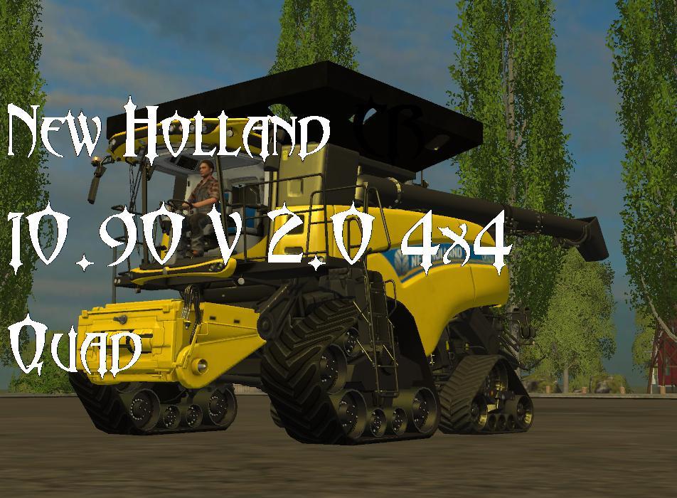 NEW HOLLAND CR 1090 ATI 4X4 QUADTRAC COMBINE