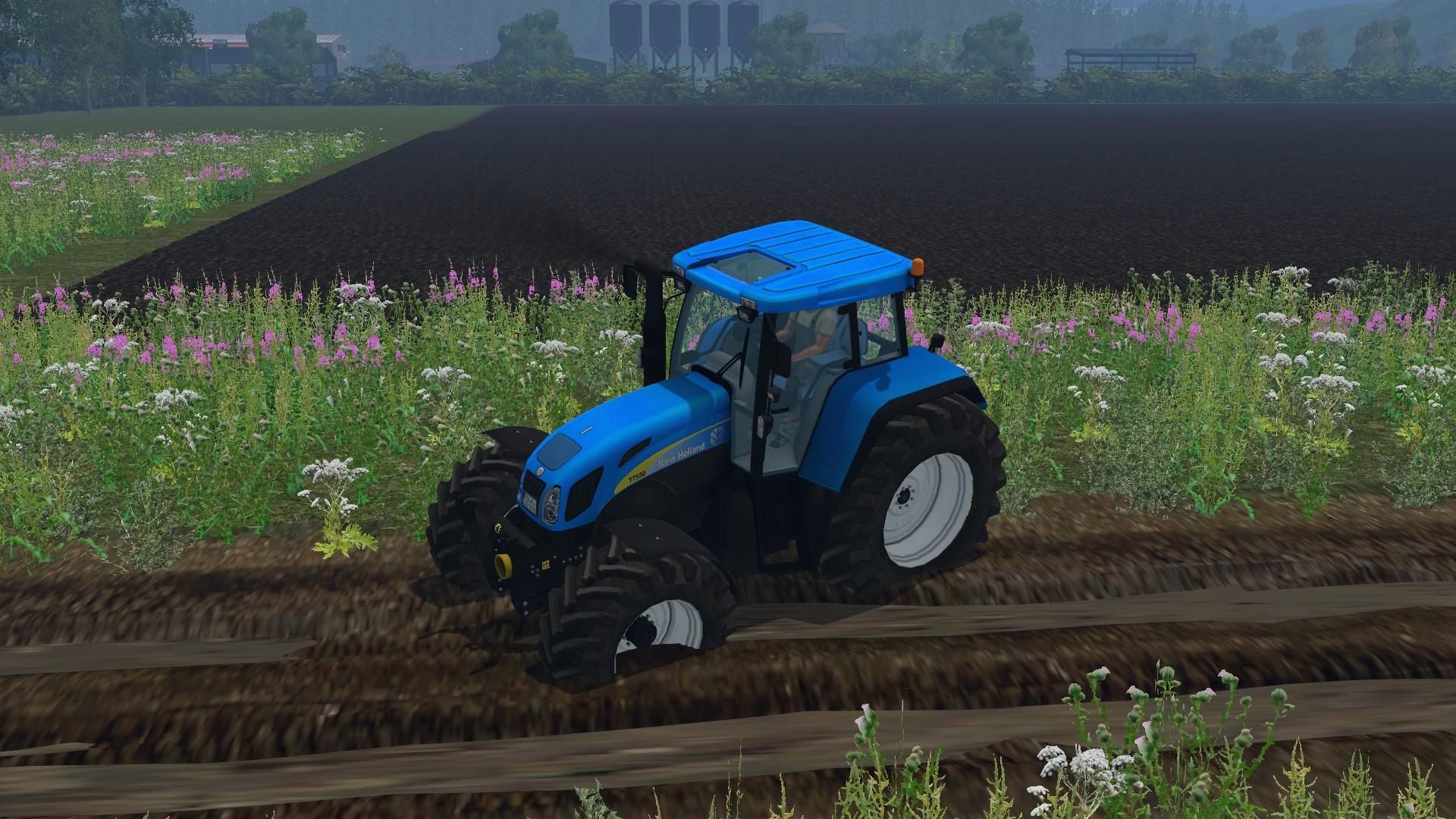 NEW HOLLAND T7550 Tractor V3 0 - Farming simulator 2019 / 2017