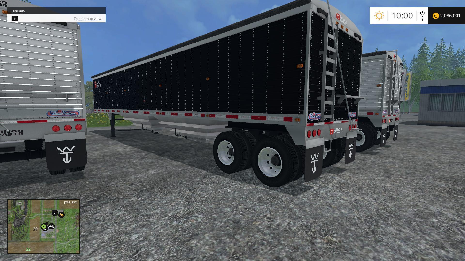 WILSON GRAIN HOPPER TRAILER V1 0 - Farming simulator 2019 / 2017
