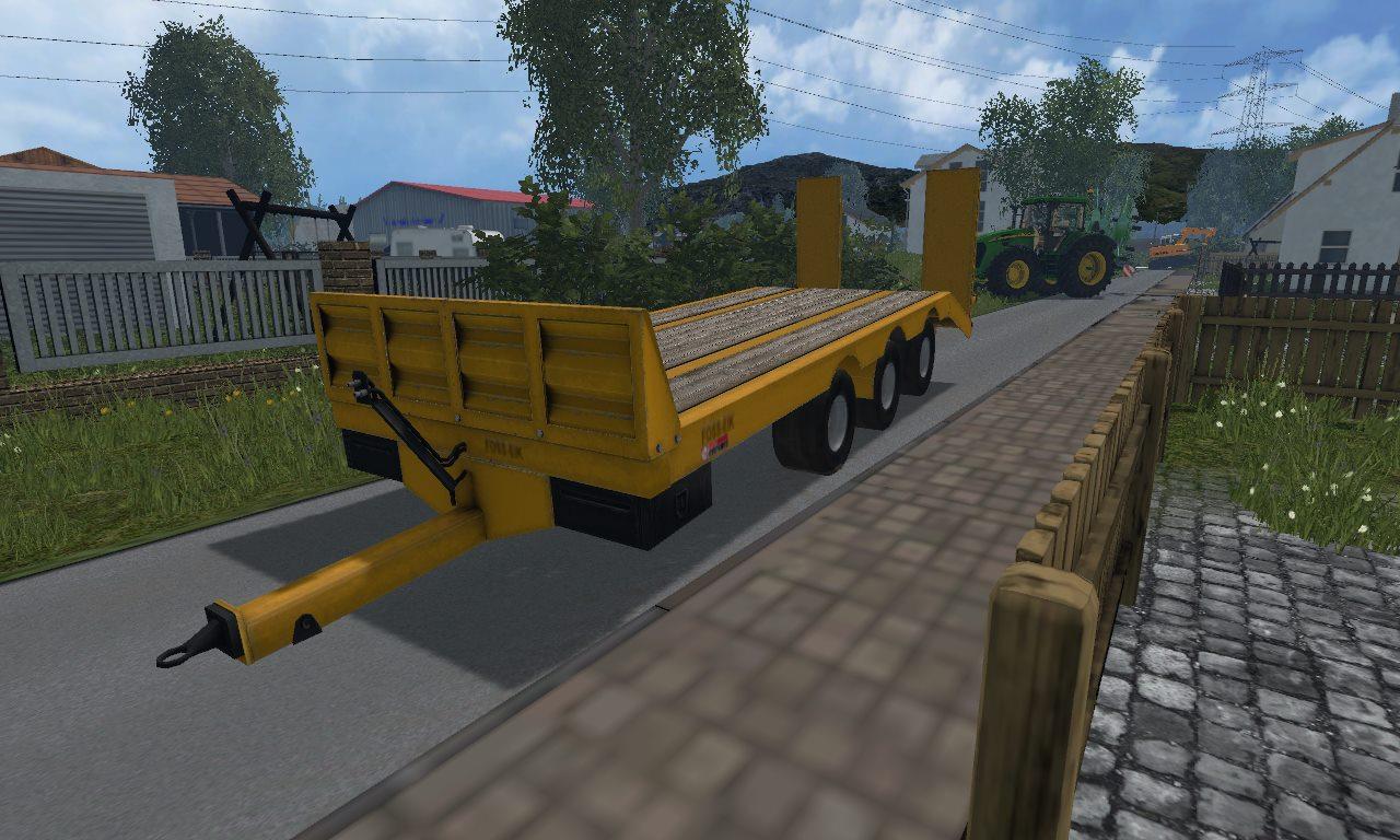 FOSS EIK LOWBOY TRAILER MOD - Farming simulator 2019 / 2017 / 2015 Mod