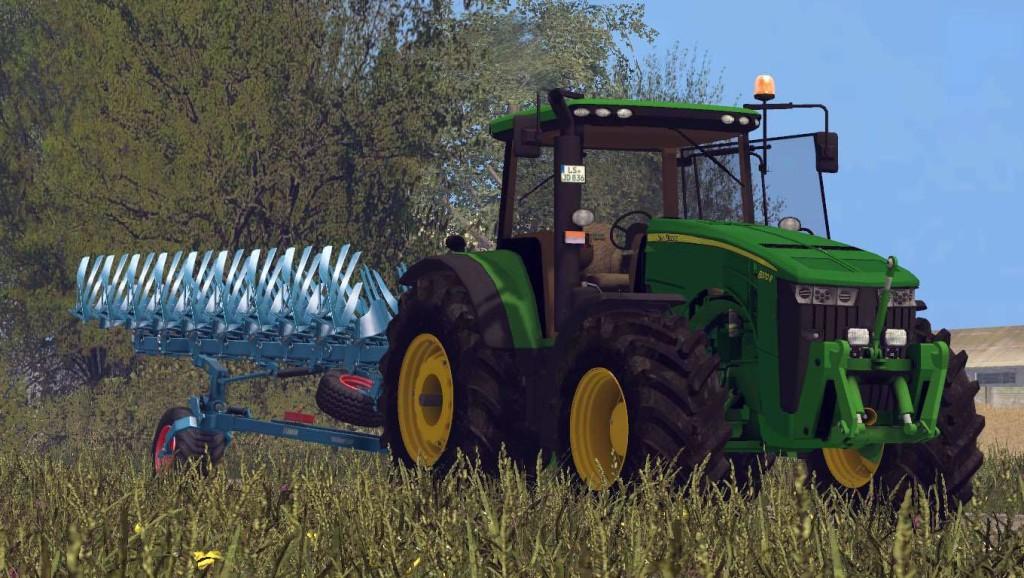 John Deere 8370R v 3.0 Tractor (Ploughing Spec)