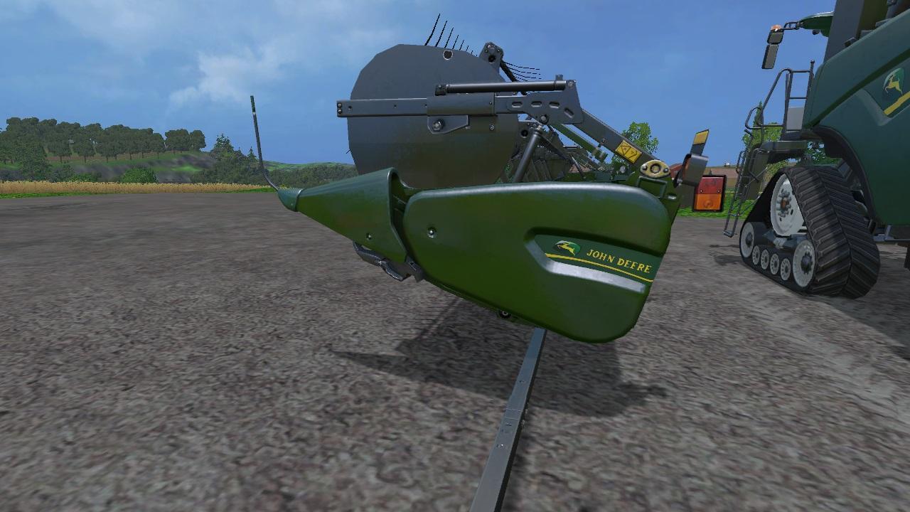 2 JOHN DEERE NEW HOLLAND CR1090 JOHN DEERE SUPERFLEX DRAPER
