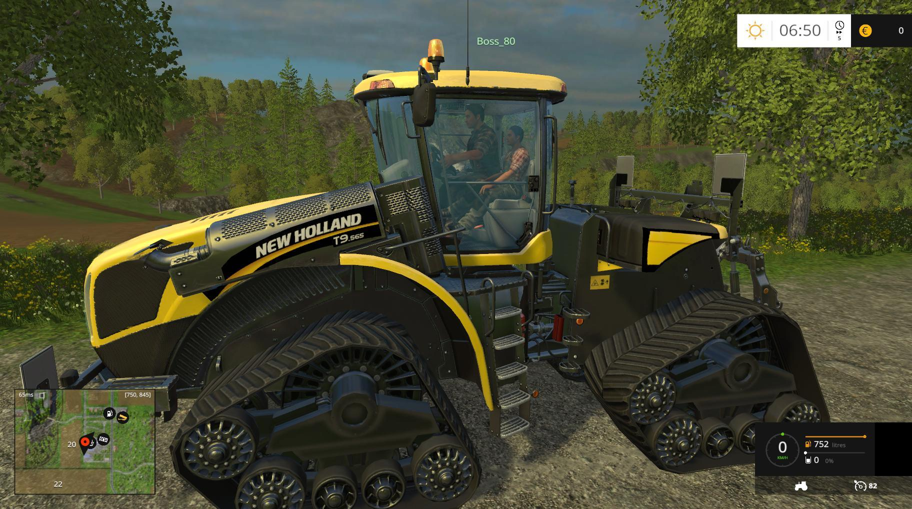 Tractor Simulator 2 : New holland t smarttrax tractor v farming