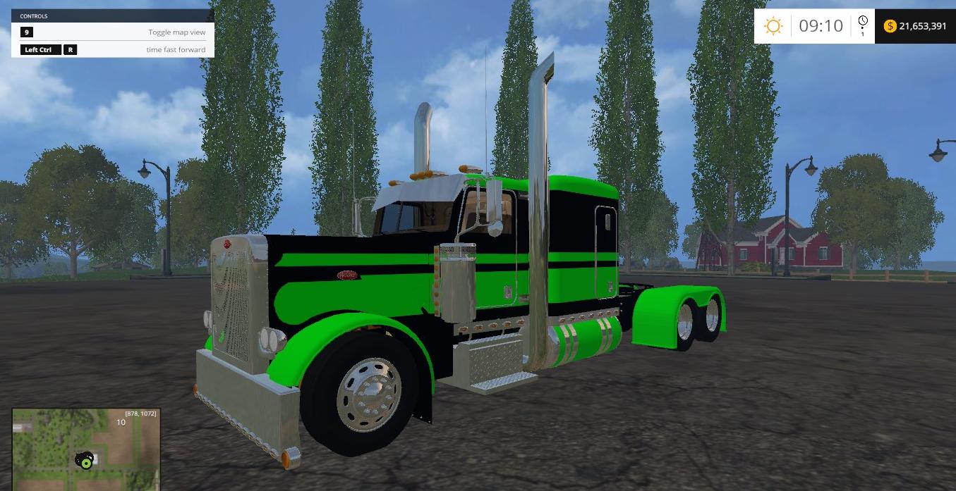 ... Green Flattop Truck - Farming simulator 2017 / 2015   15 / 17 LS mod: www.farming2015mods.com/farming-simulator-2015/trucks/peterbilt...