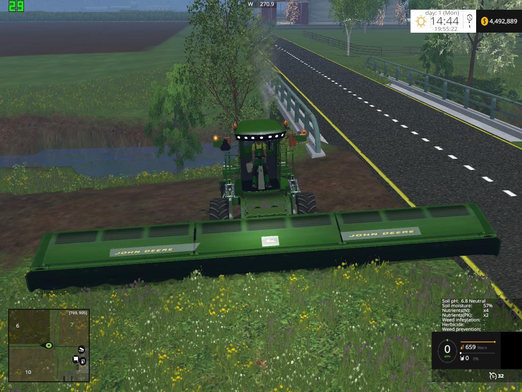 JOHN DEERE WINDROWER 450 V1 0 FS15 - Farming simulator 2019