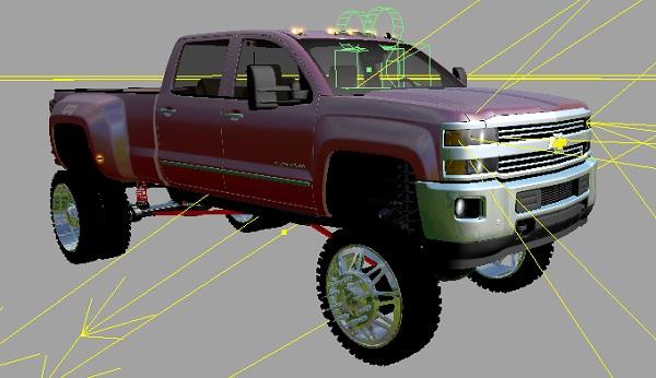 Chevy 3500 lift Car - Farming simulator 2019 / 2017 / 2015 Mod