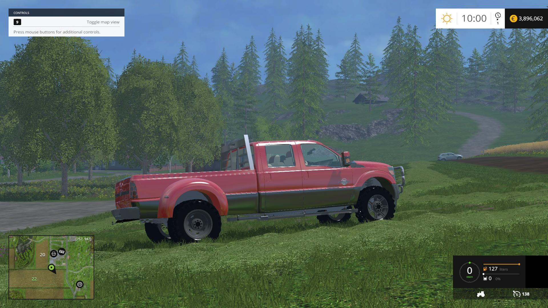 Ford f450 platinum v9 fs15 farming simulator 2015 15 ls mod