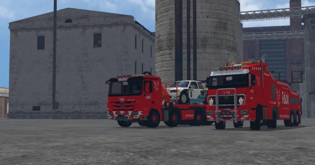MB Axor Wrecker Falck v 1.0 LS15