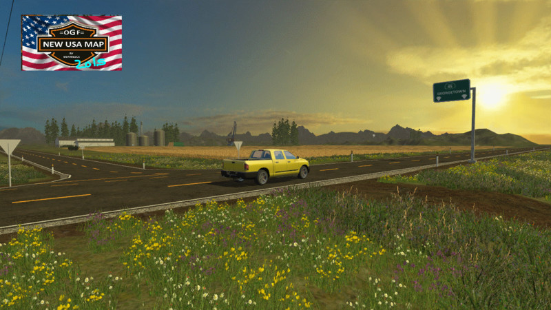 OGF USA MAP V Farming Simulator LS Mod - Fs 17 us map