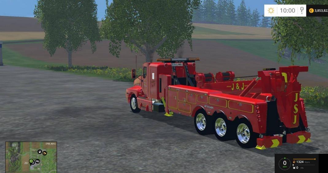 TOW TRUCK V 1 0 FS 2015 - Farming simulator 2019 / 2017 / 2015 Mod